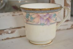 Candle in vintage tea cup. $10.00, via Etsy. #shopellion