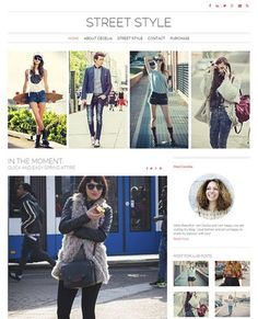 Street Style Theme Lite- Best Free Feminine WordPress Theme: Find out more at  https://www.nimbusthemes.com/free-feminine-wordpress-themes/ This post may contain affiliate links.