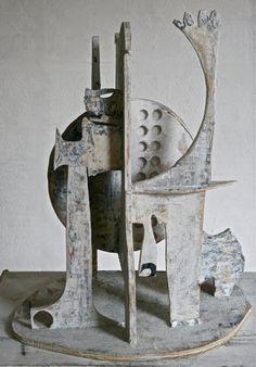 Mikhail Gubin's visionary collage sculptures