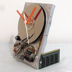 Hard Drive Clock (Raw Dezign) Tags: clock computer drive pc time recycled hard harddrive hdd repurposed upcycled