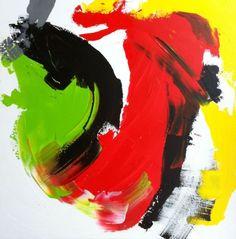 Abstract, rood geel groen zwart