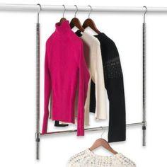 Double Hang Commercial Grade Closet Rod in Chrome - BedBathandBeyond.com