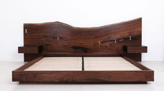 ST. PIERRE BED  Shown in Claro walnut headboard with blackened steel base, standard king, 2009