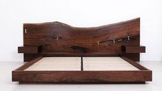 ST. PIERRE BED Shown in Claro walnut headboard with blackened steel base, standard king, 2009