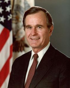 President George Bush: Forty-First president of the United States George Bush (1989 - 1993). (Photo by Hulton Archive/Getty Images)