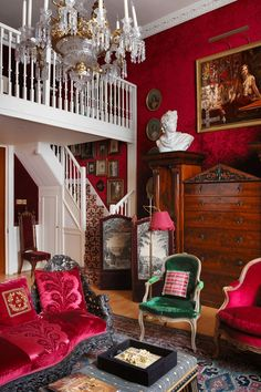 Tessa Kennedy Home Tour | Real Homes ...'The curtains and walls are red plush velvet,' says Tessa. 'I love red and I love plush!'(houseandgarden.co.uk)