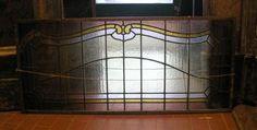 pan126 tre pannelli sopra porta in vetro colorato, liberty, mis.cm 47x103cm