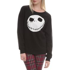 The Nightmare Before Christmas Jack Reversible Pullover | Hot Topic ($8) ❤ liked on Polyvore