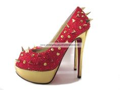 Christian Louboutin Very Mix Peep Toe Pumps In Red