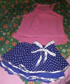 Falda fashion de moda... Y blusa en  chamu.. Mis diseños