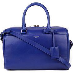 SAINT LAURENT Small leather duffel bag (Bleu de france