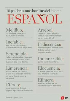 Image uploaded by María José. Find images and videos about spanish, words and frases español on We Heart It - the app to get lost in what you love. Spanish Grammar, Spanish Vocabulary, Spanish Words, Spanish Language Learning, Spanish Lessons, Weird Words, Rare Words, New Words, Pretty Words