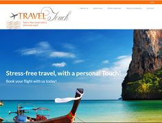 Dynamic Website Design >> Travel Touch www.traveltouch.co.za  Created By Design So Fine