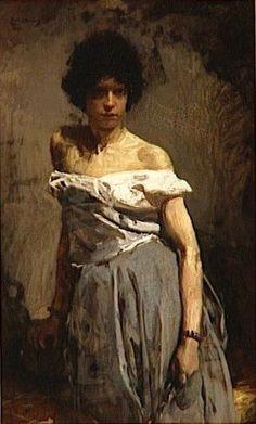 Gitana prisonnière en 1898 by Emile Wauters (Belgian 1846 – Gypsy People, Gypsy Life, Sculpture, Belle Photo, Female Art, Les Oeuvres, Hippie Boho, Photos, Statue