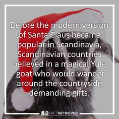 Before Santa there was a Yule goat #yule #yulegoat #christmastraditions