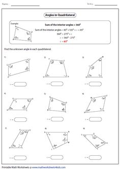 MEET AND TEACH EBOOK - QUADRILATERALS PARTNER WORKSHEET FREEBIE ...