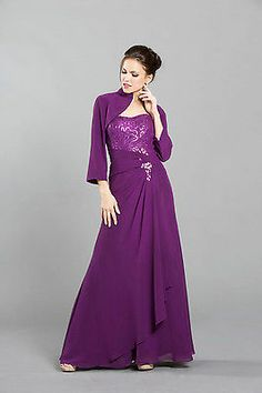 2 Colors Mother Of Bride/Groom LONG DRESS HOMECOMING EVENING FORMAL S-4XL