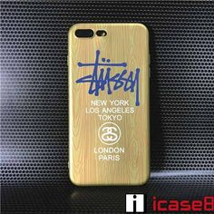 シュプリームと並ぶアメリカストリートファッションの元祖とも言えるブランドステューシーiphone7s/7splus/iphone8ケース stussy金属質感のあるペイントで仕上げたストックロゴ夜光アイフォン7s/アイフォン8ケース