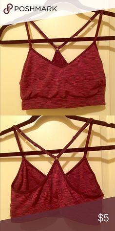 Cute Champion bra, light support Cute burgundy champion sports bra! Champion Intimates & Sleepwear Bras