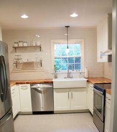 """Real World kitchen - LOVE.  The """"Stuck in the 60s Kitchen"""" Makeover — Makeovers: Kitchen Renovation Project"""