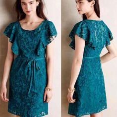 Size 2 NWT Fluttered Scrollwork Dress Anthropologie