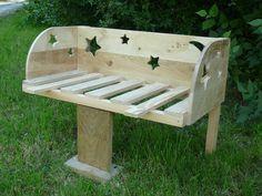 lit bébé cododo en bois thème étoiles et lune : Chambre d'enfant, de bébé par boisemoi