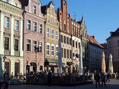 Restaurants on old square in Poznań