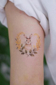 Hand Tattoos, Bunny Tattoos, Frog Tattoos, Rabbit Tattoos, Neue Tattoos, Flower Tattoos, Small Tattoos, Sleeve Tattoos, Small Animal Tattoos