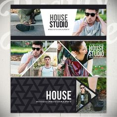 Facebook Timeline Cover Templates: House / I love the angles on this set!