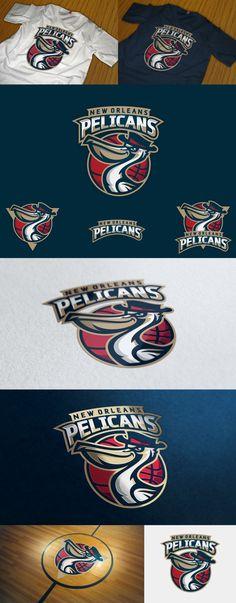 Pelicans logo concept