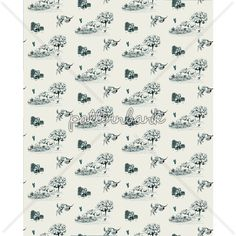 Naturally Toile Design by Nikky Starrett to license at Pattern Bank!