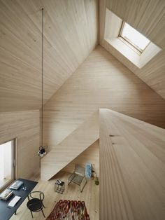 Interior from Haus am Moor in Krumbach in the Austrian countryside designed by Bernado Bader Architects.