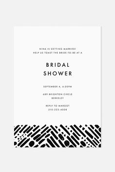 Modern Black and White Invitation | Shop at www.jaymeesrp.com