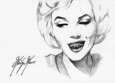 Marilyn Monroe by ~Natzuka-Tsukishiro on deviantART  || This image first pinned to Marilyn Monroe Art board, here: http://pinterest.com/fairbanksgrafix/marilyn-monroe-art/ || #Art #MarilynMonroe