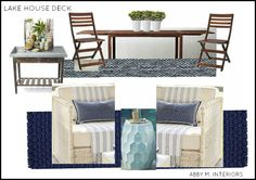 lake house deck/porch Abby M. Interiors