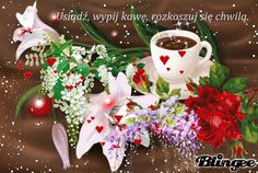 Coffee Blog, Good Morning, Roses, Animation, Christmas Ornaments, Holiday Decor, Pictures, Design, Buen Dia