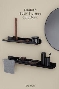 Modern Baths, Modern Bathroom, Small Bathrooms, Tinted Mirror, Mirror Powder, Small Bathroom Organization, Square Tray, Toilet Roll Holder, Bathroom Collections