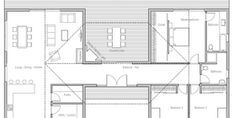 House Plan CH339 One Level House Plans, New House Plans, Modern House Plans, Small House Plans, Cottage Floor Plans, Pole Barn House Plans, Cabin Plans, House Floor Plans, Casas Containers