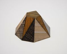 Tom Lauerman, Frustrum, wood, ink, shellac, 2012