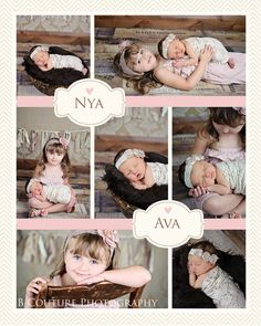 Newborn sister poses...{B Couture Photography}