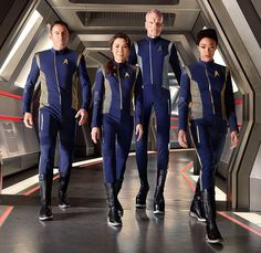 Totally on board for #StarTrekDiscovery, but don't see these #uniforms lasting more than a season