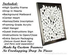 Wedding Guest Book Alternative Unique Drop In by WeddingGuestbook