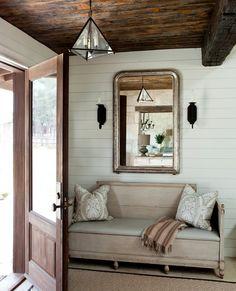entryway bench + mirror