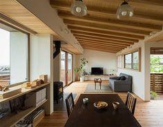 Concept | kinoto / 奈良の注文木造住宅、住宅設計 - 奈良、大阪、京都、神戸 Japan Interior, Home Interior Design, Interior Decorating, Japanese Home Decor, Japanese House, Beautiful Living Rooms, Beautiful Interiors, My Living Room, Living Spaces