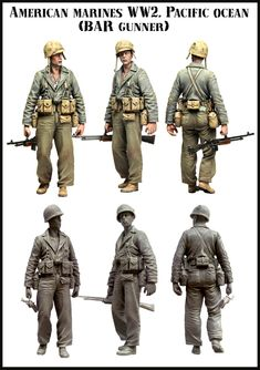 USMC BAR gunner in the Pacific WW2. Click on the picture for more details about this and other 1/35 scale resin figures