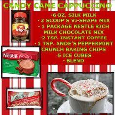 Candy cane cappuccino vi shake recipe