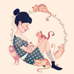 Era pra ser o desenho de uma menina, e de repente, apareceram seis gatinhos…