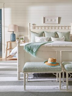 coastal bedroom with