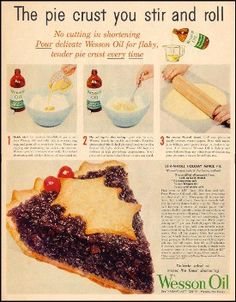 ad for Wesson Oil pie crust