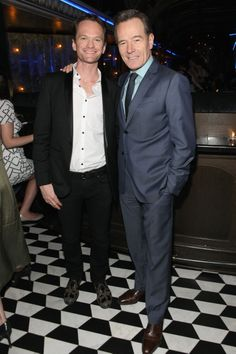 Neil Patrick Harris and Bryan Cranston attend the 2014 Tony Honors Cocktail Party at the Paramount Hotel. (Photo by Craig Barritt/Getty Images for Tony Awards Productions) #TonyAwards cc @The Tony Awards